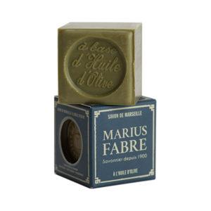 Marius Fabre Olívás Marseille szappan papírdobozban