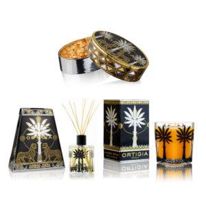 Ortigia Ambra Nera otthon illatosítási ajándékcsomag