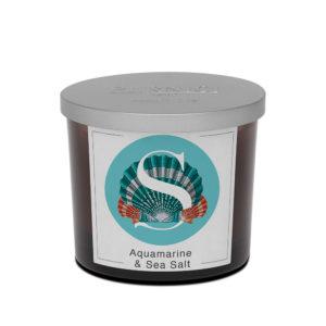 Pernici akvamarin és tengeri só illatgyertya