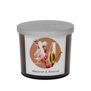 Pernici macaron és mandula illatgyertya
