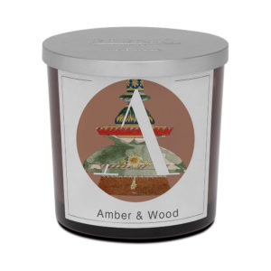 Pernici nagy ambra and wood scented candle
